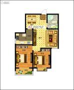 东润国际新城2室2厅1卫87平方米户型图