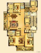 海星御和园4室2厅4卫220平方米户型图