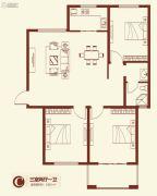 紫薇壹�3室2厅1卫128平方米户型图