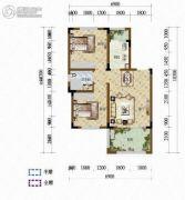 天籁谷2室2厅1卫62平方米户型图