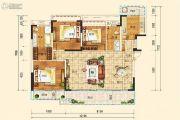 合能枫丹铂麓3室2厅2卫138平方米户型图