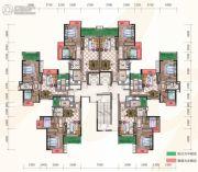 惠阳雅居乐花园2室2厅2卫77--88平方米户型图