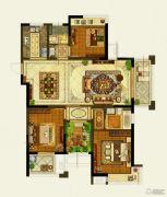 保利公园九里3室2厅2卫142平方米户型图