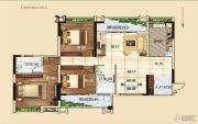 常青藤3室2厅2卫116平方米户型图