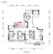 融侨观澜2室2厅2卫125平方米户型图