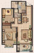 九洲新世界2室2厅1卫85平方米户型图