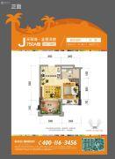 碧桂园珊瑚宫殿1室2厅1卫40--41平方米户型图