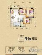 渝开发上城时代3室1厅1卫75平方米户型图