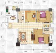 九立方国际购物中心3室2厅2卫123平方米户型图