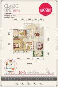 文杰莱茵广场3室2厅1卫94--9平方米户型图