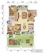 宏信依山郡3期4室2厅3卫153--53平方米户型图