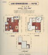 上海紫园3室2厅2卫231平方米户型图