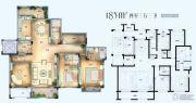 法兰谷4室3厅3卫185平方米户型图