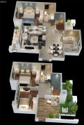 三盛・国际海岸3室2厅2卫0平方米户型图