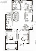 永通公馆3室2厅1卫100平方米户型图