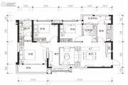 恒大银海湖3室2厅2卫112平方米户型图