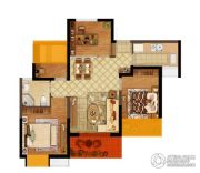 弘阳燕江府4室2厅1卫90平方米户型图