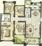 绿都万和城4室2厅2卫138平方米户型图