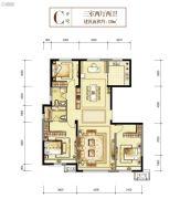 世茂悦海国际社区・悦玺3室2厅1卫139平方米户型图