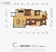 世豪金河谷5期5室2厅3卫180平方米户型图