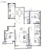 巨华世纪城3室2厅2卫148平方米户型图