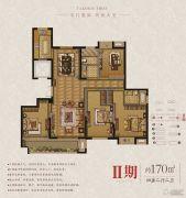 东润首府 高层4室2厅2卫170平方米户型图