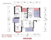 恒晟御水湾4室2厅3卫130平方米户型图