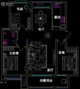 紫涵樾府3室2厅1卫115平方米户型图