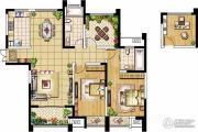绿洲天逸城3室2厅2卫130平方米户型图