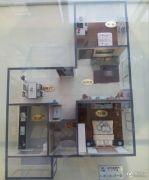 上上城青年社区二期2室2厅1卫71平方米户型图