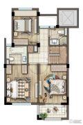 灏景湾2室2厅2卫130平方米户型图