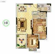 东郡华庭2室2厅1卫85平方米户型图