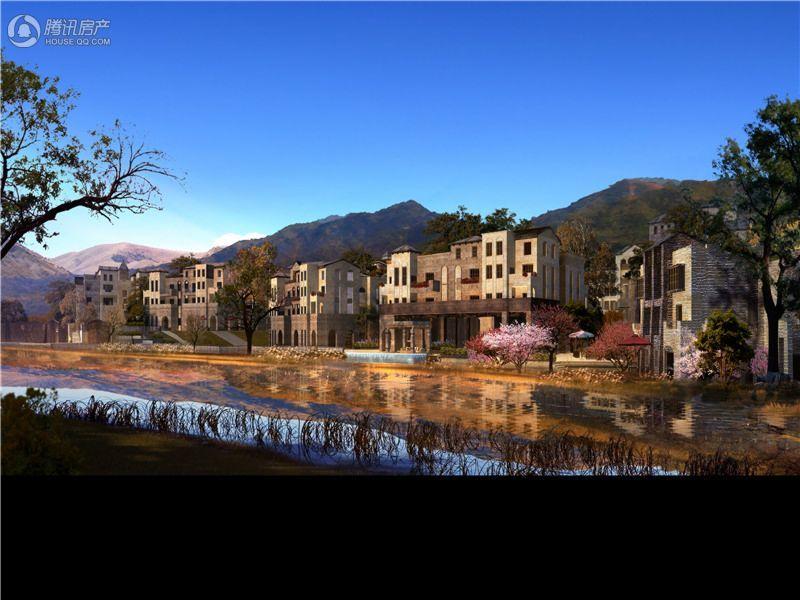 山客部落沿河景观效果图