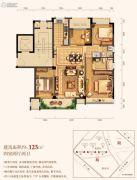 三水润园二期4室2厅2卫125平方米户型图