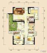 世茂城3室2厅1卫89平方米户型图
