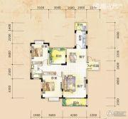 三祺长岛花园2室2厅1卫105平方米户型图