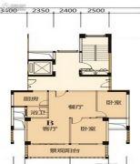 香域水岸2室2厅1卫0平方米户型图
