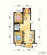 鼎旺90社区2室2厅1卫88平方米户型图