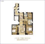 华润中心悦府3室2厅3卫0平方米户型图