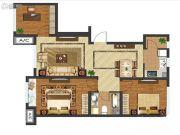 中国城建伦敦公元3室2厅1卫102平方米户型图