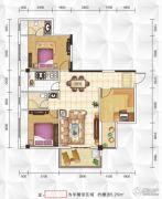 九立方国际购物中心3室2厅2卫111平方米户型图