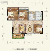 希望・玫瑰园3室2厅1卫75平方米户型图