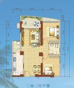 海岸国际假日花园2室2厅0卫74--89平方米户型图