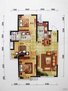 万科・金域国际3室2厅1卫115平方米户型图
