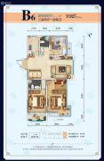 伊丽莎白・花漾3室2厅2卫0平方米户型图