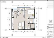 君立国际公寓2室2厅1卫0平方米户型图