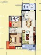 雅博世纪广场2室2厅1卫83平方米户型图