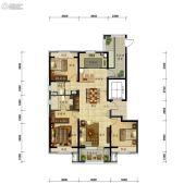 万科圣丰・翡翠之光3室2厅2卫140平方米户型图