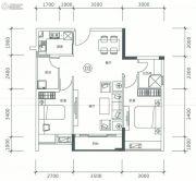 正太广场3室2厅1卫85平方米户型图