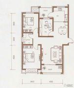 东方太阳城3室2厅1卫106平方米户型图